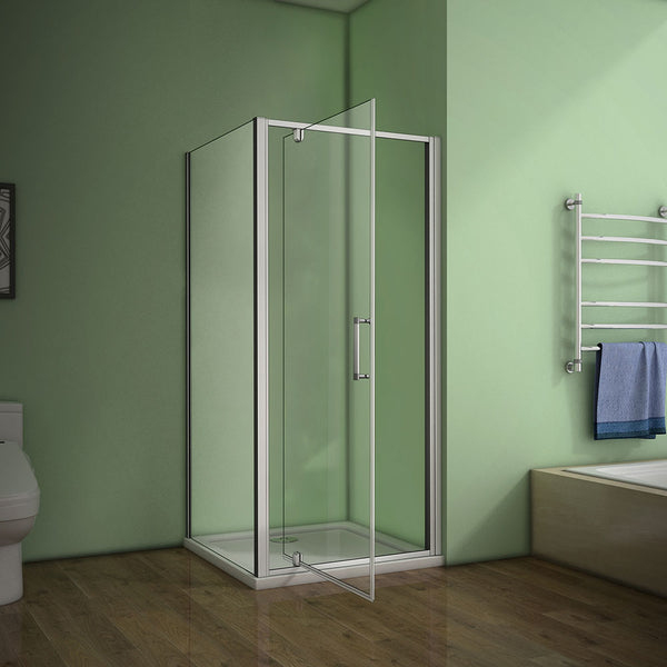 700-1000mmx1850mm pivot shower rectangle enclosures,Shower Tray Optional