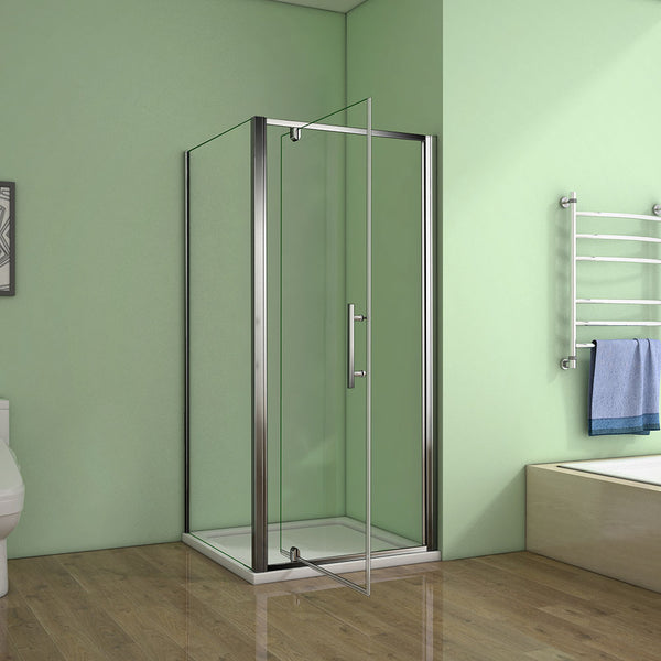 700-1000mmx1850 Chrome pivot shower rectangle enclosures,Shower tray Optional