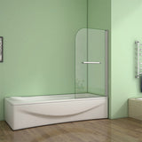 800x1400mm 180 degree Pivot Safety Glass Over Bath Shower Door Panel Screen,Towel Rail