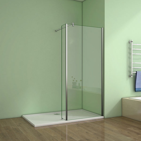 8mm glass,EasyClean,Chrome,wet room