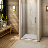 700-1000mmx1850 Chrome Frameless Pivot Door,Shower Tray Optional