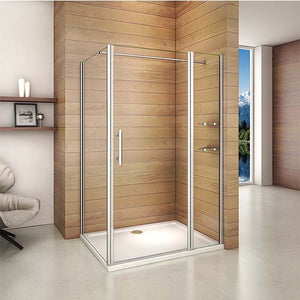 700mm-1200mm Chrome Frameless Pivot Rectangle Enclosures,Shower Tray Optional
