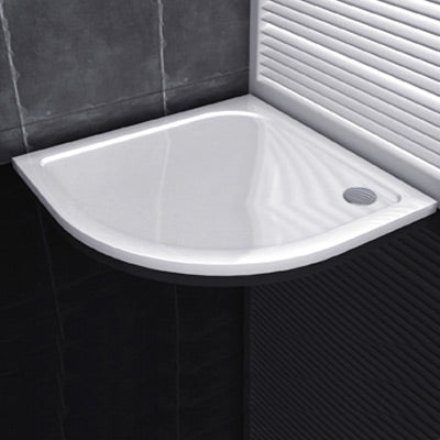 30mm Height New Quadrant Walk in Shower Enclosure Stone Tray