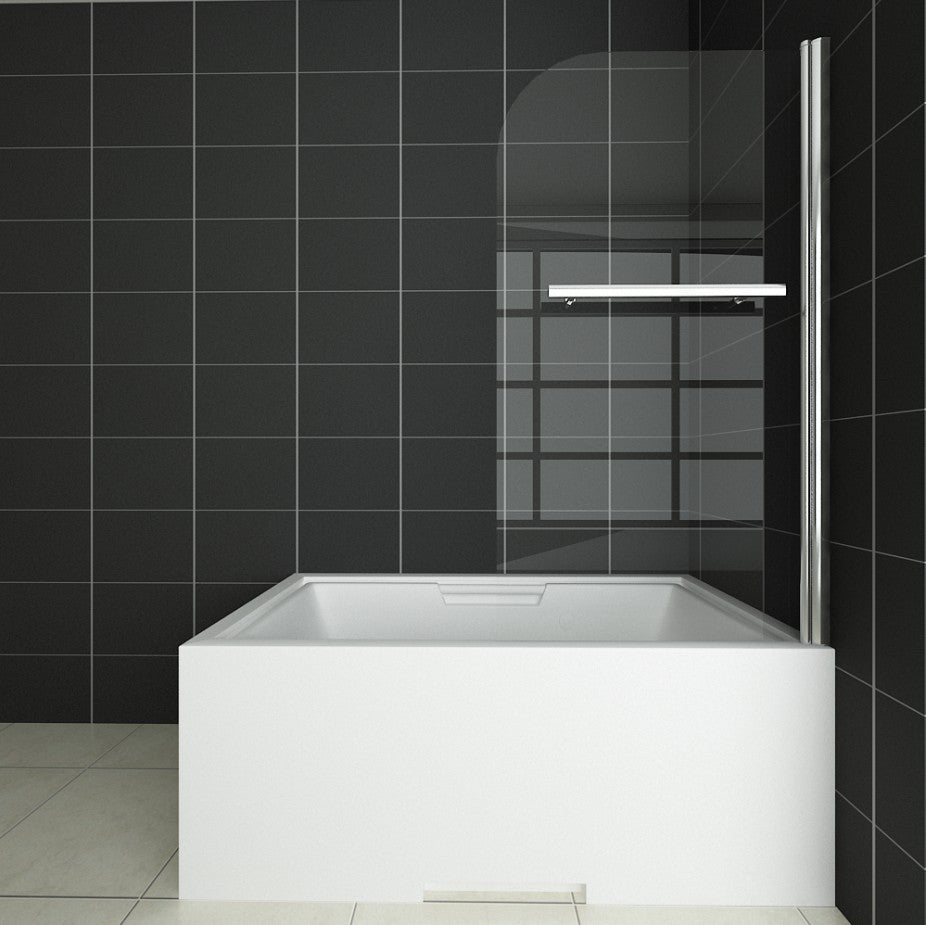 800mm wide Chrome 180 degrees Pivot Shower Bath Screen Easy,with Towel Rail