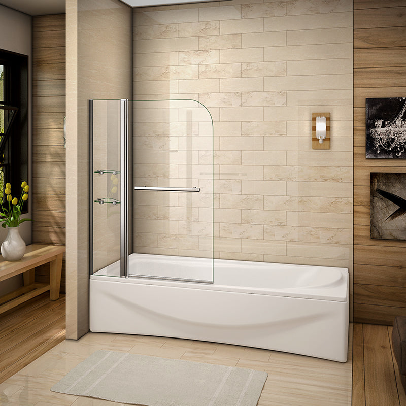 1000X1500mm Chrome Pivot Shower Bath Screen Easyclean,glass shelves