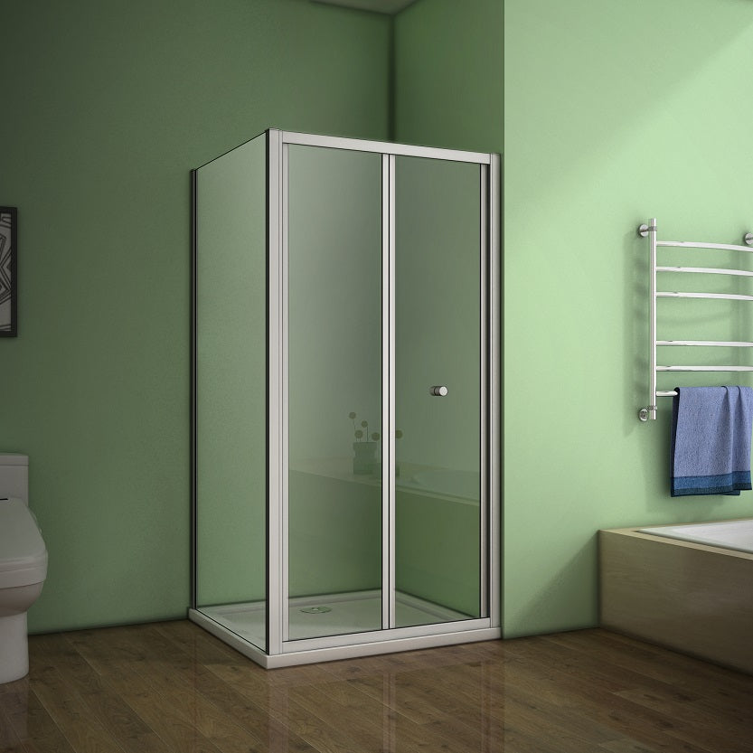 700-1000mm Bifold Shower Enclosure Cubicle Door,700-900mm Side Panel,Tray Optional
