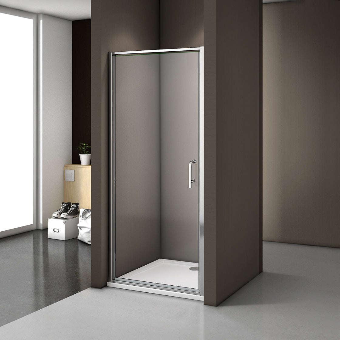 900mm|1000mm 1850 height Pivot Shower Door,Shower Stone Tray Optional