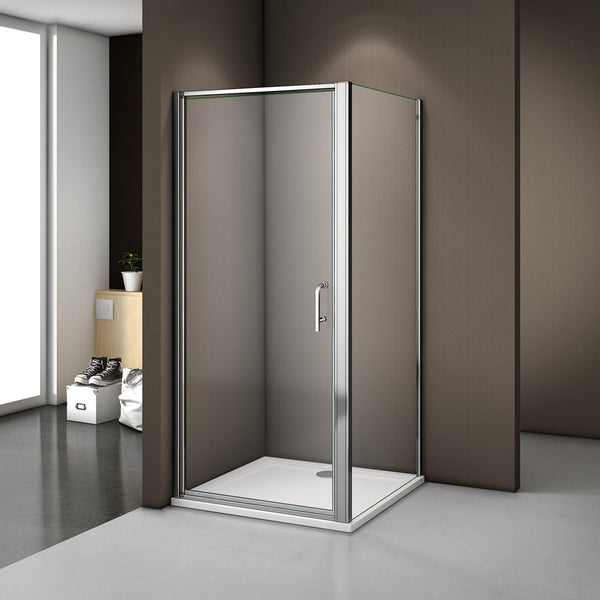 900mm|1000mm pivot shower door,700-900mm side panel,Tray optional