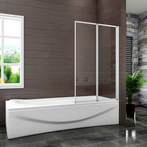 Folding Shower Bath Screen 2 / 4 Panel Folding, H.1400 mm Bathroom sets