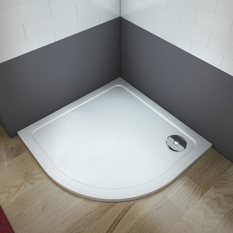 New Quadrant Stone Tray 30mm Height Walk in Shower Enclosure