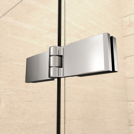 700-1000mmx1850 hinge Chrome double shower doors,Corner entry Enclosures,Tray Optional