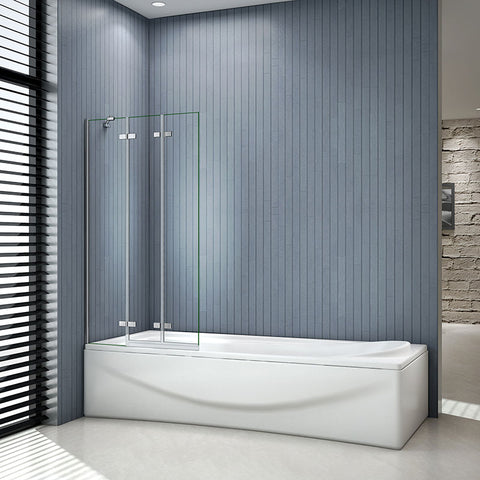 1000x1400mm 3 Fold Folding Pivot Hinge Bath Shower Screen