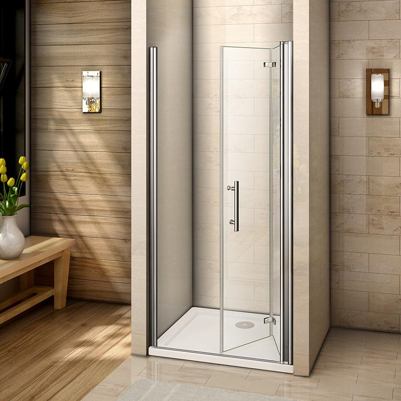 700-1000mmx1850 Chrome Hinge pivot shower door,shower Tray Various sizes Optional