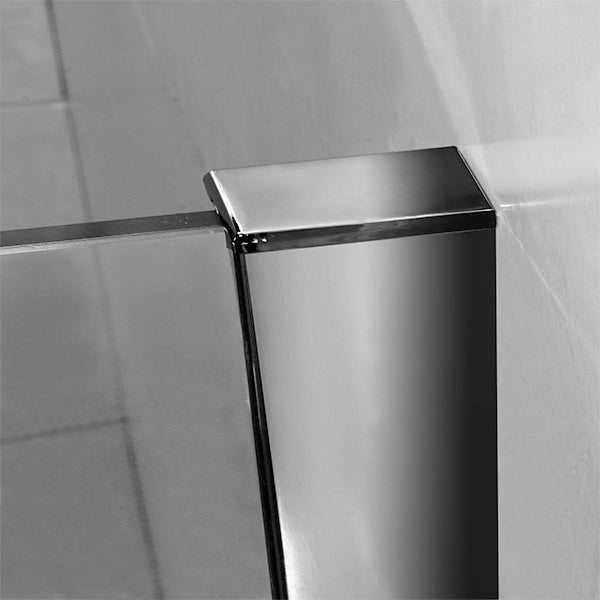 700-1400mm Wet Room Shower screen panel 8mm NANO glass 1850mm Height