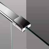 L Shape Wet Room Shower Screen and  Fixed Return Panel 1950mm height
