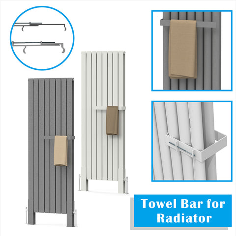 400mm Towel Bar for Linear Oval Column & Flat Panel Designer Radiators