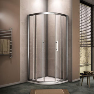 Quadrant Shower Enclosure Glass Sliding Door 8mm Nano Anti-Explosion Tempered Glass