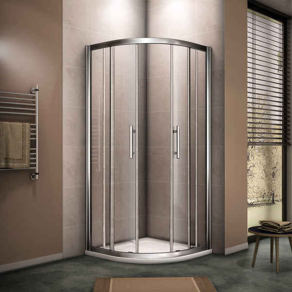 Walk In Quadrant Shower Enclosure Cubicle Glass Sliding Door 8mm NANO glass