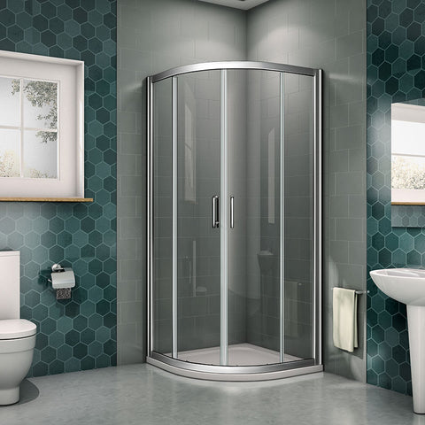 1900mm Height Chrome Frame Quadrant Shower Door,Tray optional