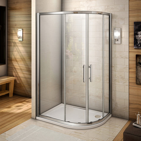 1000x800mm Quadrant Corner Entry Shower Enclosure Cubicle