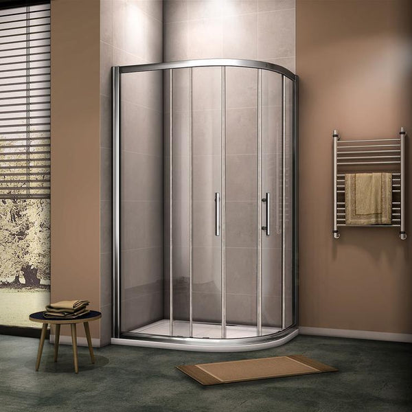 Quadrant Shower Enclosure Glass Sliding Door 8mm Nano Easy Clean Clear Tempered Glass