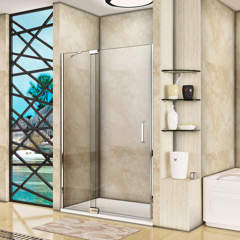 800-1200mmx1950 Frameless Pivot Shower Door,8mm EasyClean glass,Tray Optional