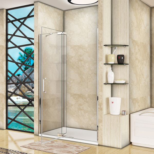 Chrome,Pivot Shower Door,aica shower door,EasyClean glass