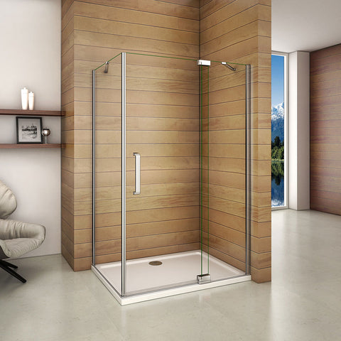 1950mm Height Frameless Pivot Hinge Shower Enclosure,8mm EasyClean glass,Tray Optional