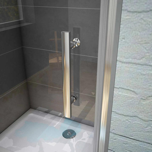 Frameless Pivot Shower Door Enclosure 700| 760 |  800 | 900 |1000mm Chrome Frame