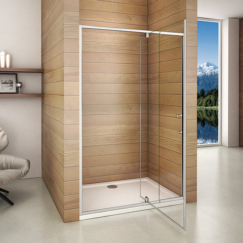 800-1000mmx1850 Framed Pivot Hinge Shower Door,Shower Tray Optional