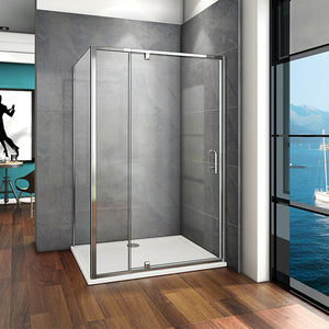 800-1000mmx1850 Pivot Hinge Shower Door,700-900 side panel,Tray is Optional