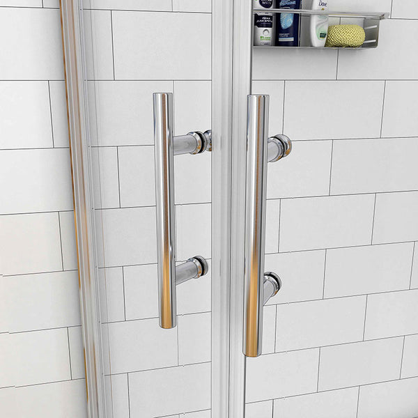 Chrome Offset Quadrant Enclosures shower cubicle 1900mm Height
