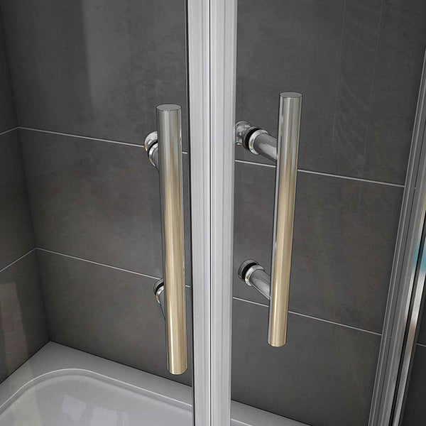 Chrome Offset Quadrant Enclosures shower cubicle 1900mm Height,Tray Optional