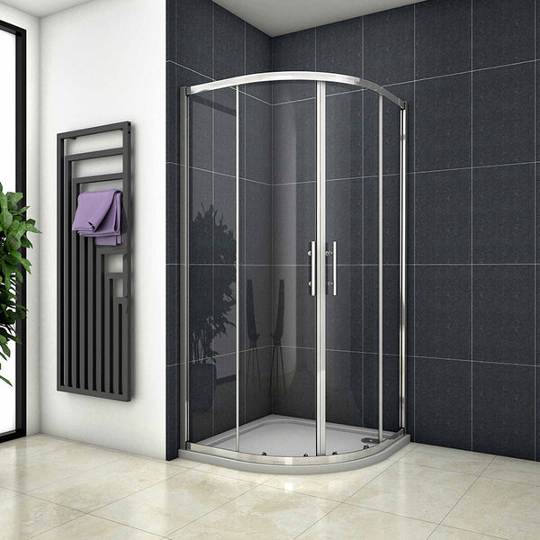 Chrome Quadrant Enclosure Corner Cubicle 760-1000 x 760-1000 x 1900mm H