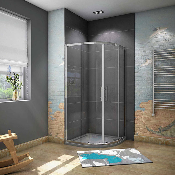 Chrome Shower Quadrant Enclosure Corner Cubicle H.1900mm