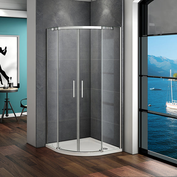900X900mm Chrome Quadrant Shower Enclosure,Shower Tray Optional