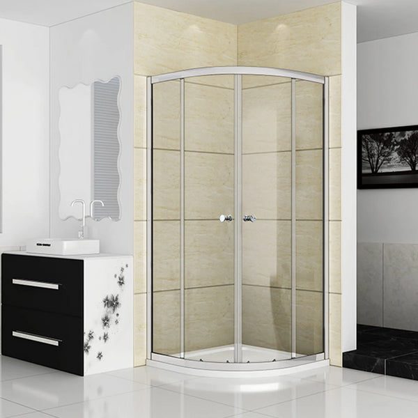800x800mm Quadrant Shower Enclosure Walk In Corner Cubicle Door,Tray Optional