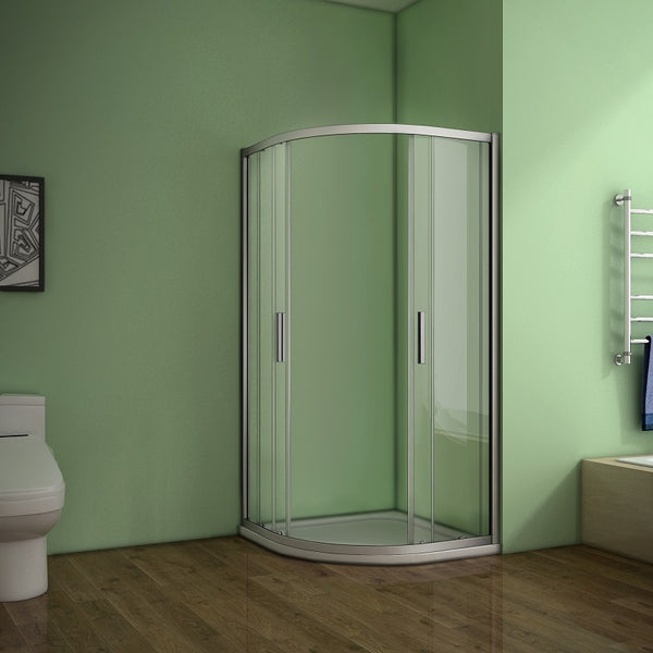 760-900mmx1850 Quadrant Enclosure Corner Cubicle,Shower Tray Optional