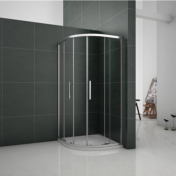 800|900|1000mm Walk In Quadrant Shower Enclosure sliding glass door