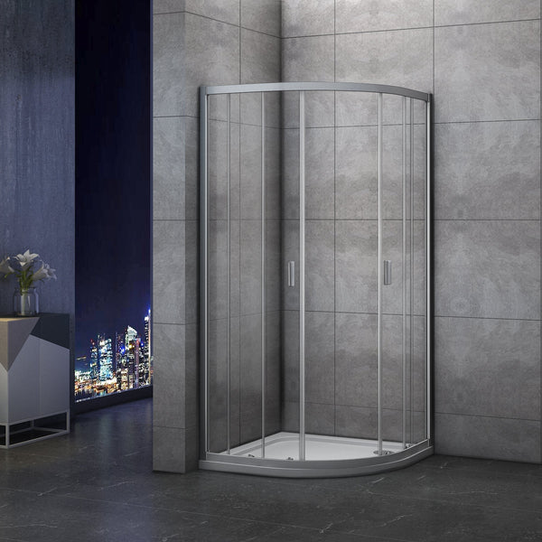 1850mm Quadrant Shower Enclosure Corner Entry Glass Cubicle, No Tray