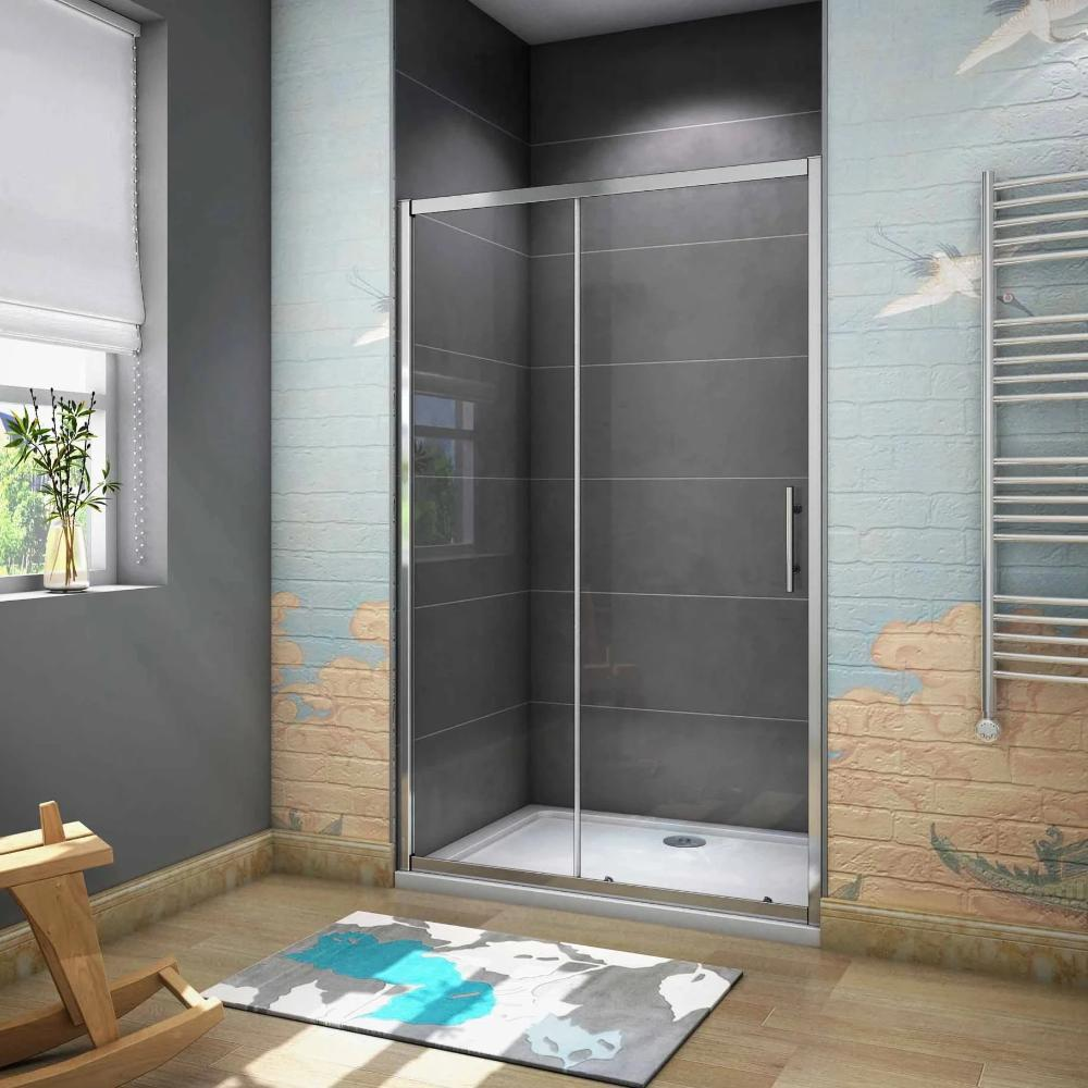 Sliding Shower Door Enclosure 1000-1700mm Width 1900mm Height Chrome Frame
