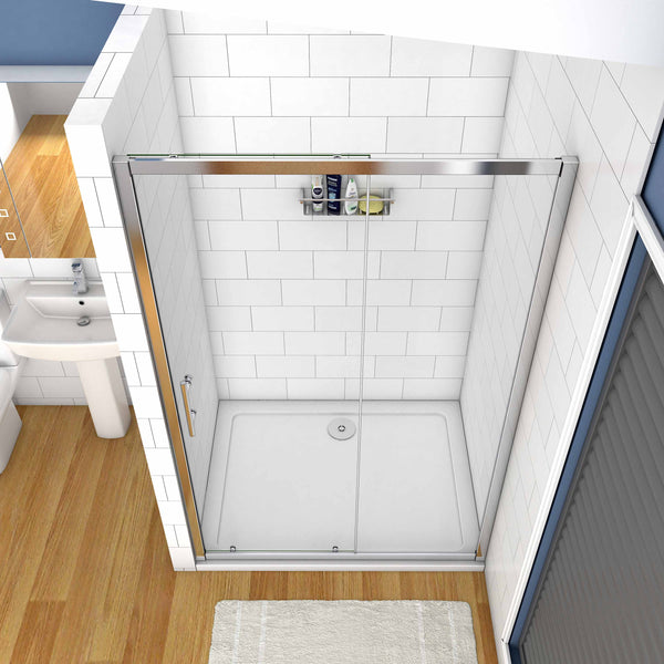 100cm-170cm Chrome frame Sliding Shower Door 190cm height