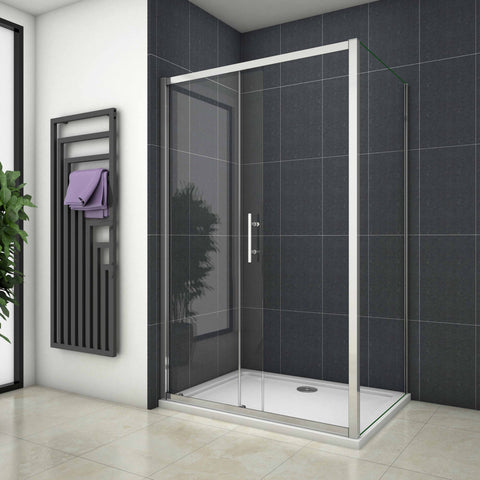 700 - 1700mm x 1900mm Chrome Sliding shower rectangle enclosures