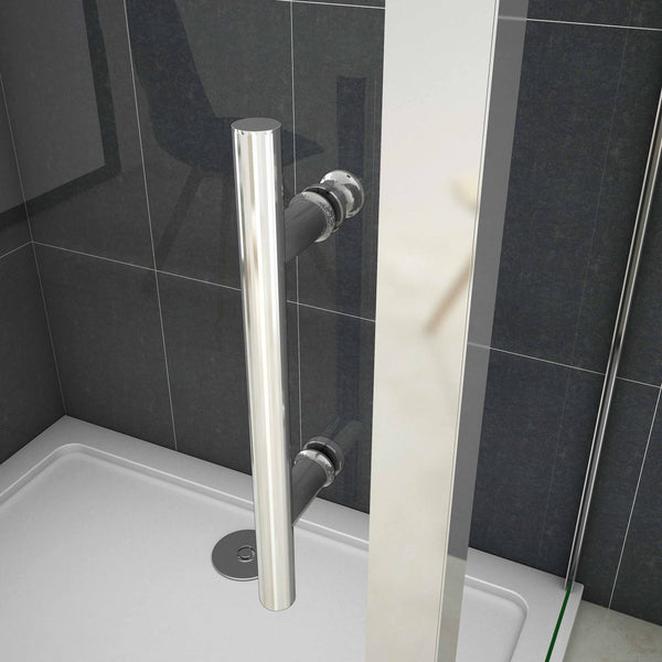 Sliding shower rectangle enclosures 700 - 1700mm x 1900mm Chrome