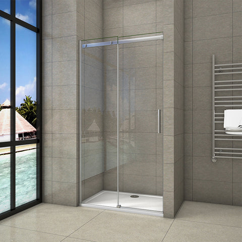 1000-1400mmx1950 Sliding Chrome Shower Door,Shower Stone Tray Various sizes Optional