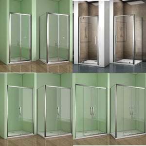 Shower Enclosure chrome bifold pivot sliding door
