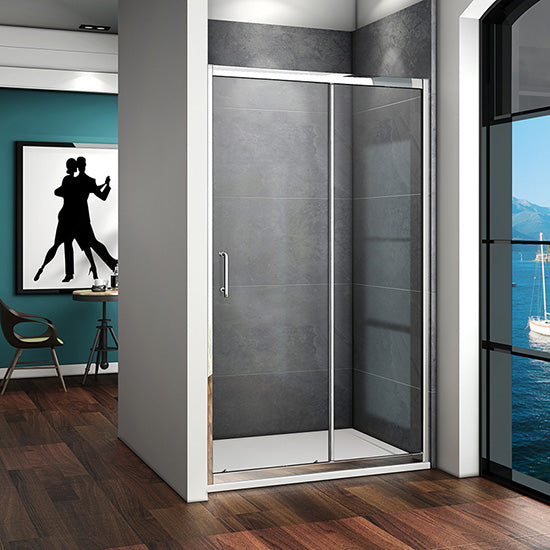 1000-1700mmx1850mm Sliding shower door,Shower Stone tray Optional