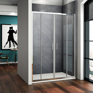 1400x1850mm Walk In Sliding Shower Enclosure Screen Door,Shower Tray optional