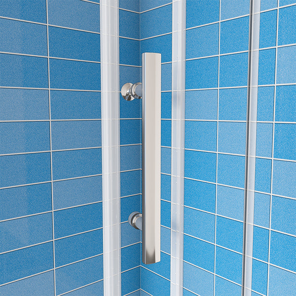 Bathroom Sliding Shower Door Enclosure Cubicle 8mm EASY CLEAN Glass Nano