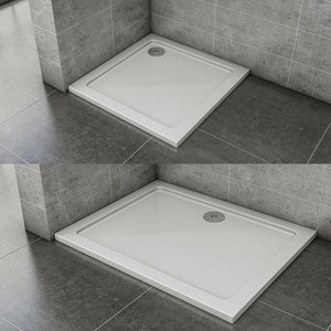 Rectangle or Square  Shower Enclosure Stone Tray slimline 30mm Height